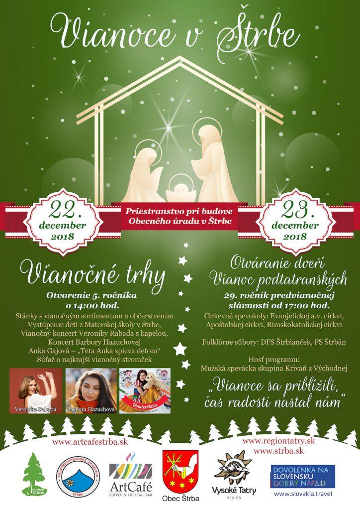 Otváranie dverí Vianoc podtatranských a vianočné trhy v Štrbe