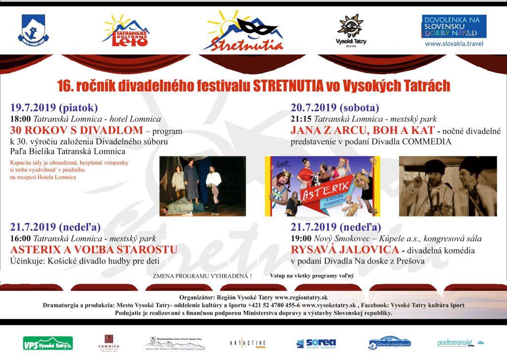 Tatranské kultúrne leto – júl 2019