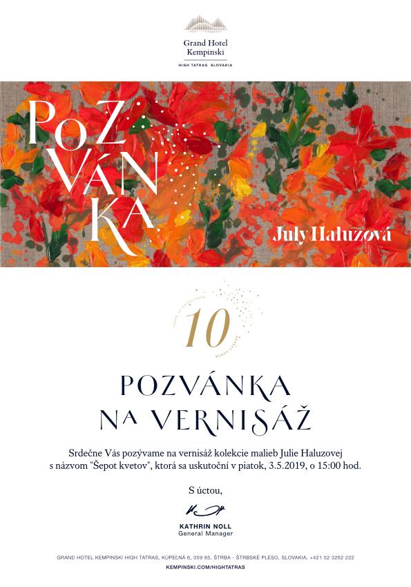 Šepot kvetov – výstava Júlie Haluzovej
