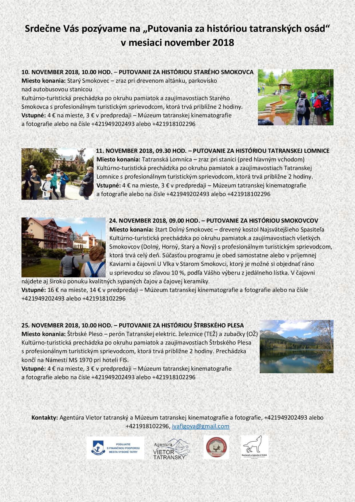 Putovania za históriou tatranských osád