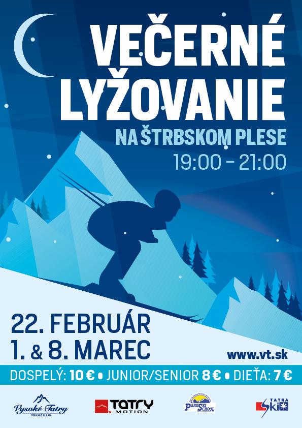 Večerné lyžovanie na Štrbskom plese