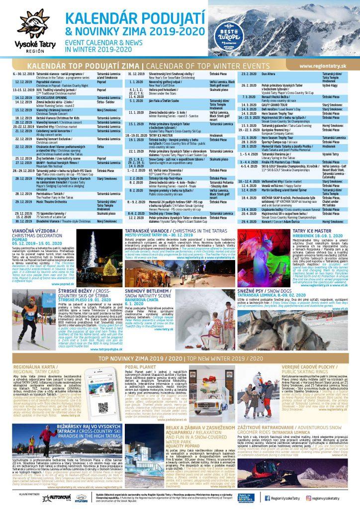 Kalendár podujatí – ZIMA 2019/2020