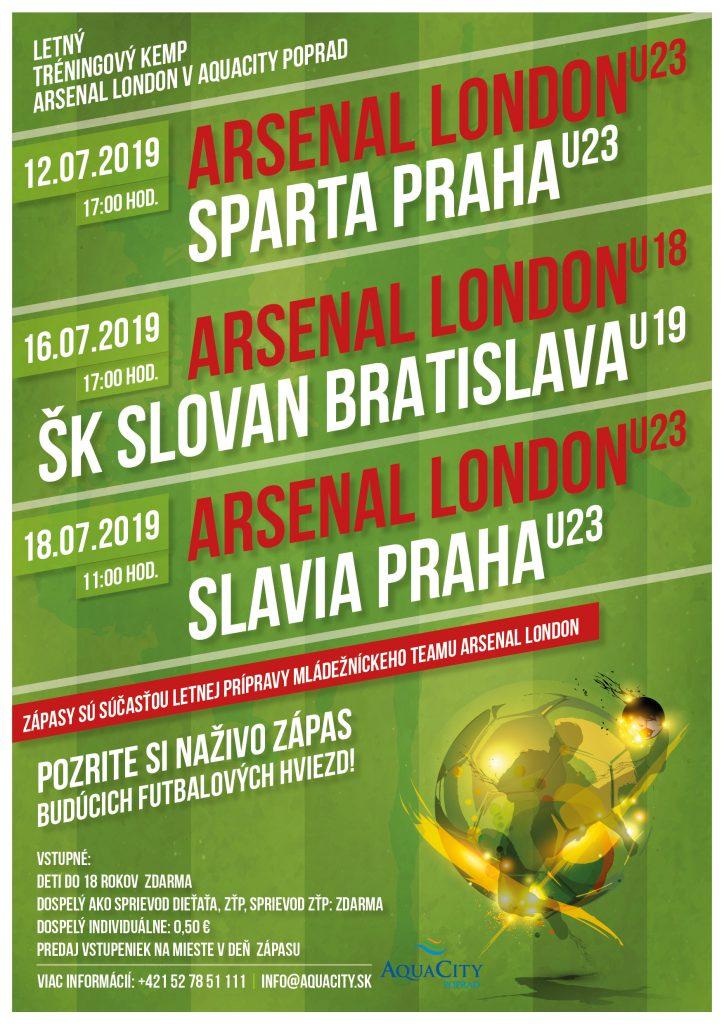 Futbalový zápas Arsenal London U23 vs Sparta Praha U23