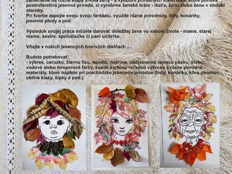 Jesenné tvorivé dielne pre deti ONLINE
