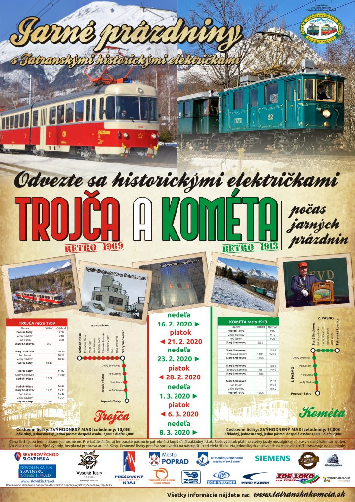 Jarné prázdniny s tatranskými historickými električkami