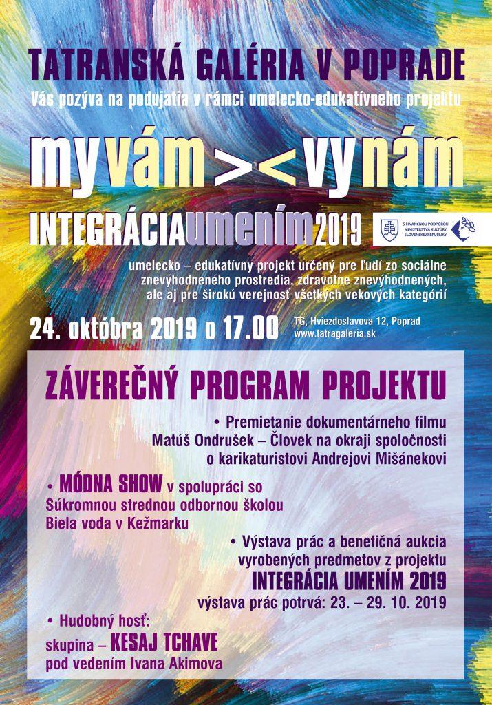 Integrácia umením 2019