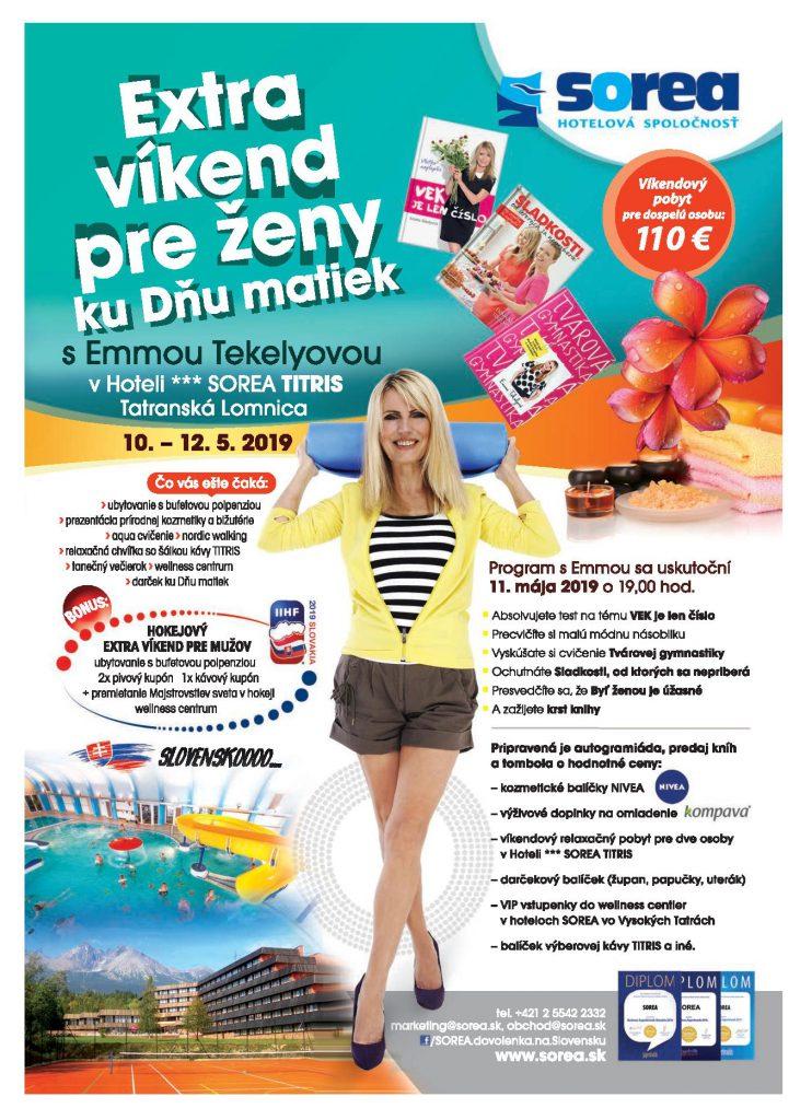 EXTRA víkend pre ženy a program s Emmou Tekelyovou