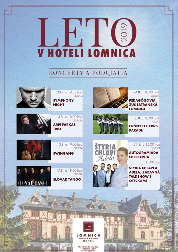 Leto v Hoteli Lomnica