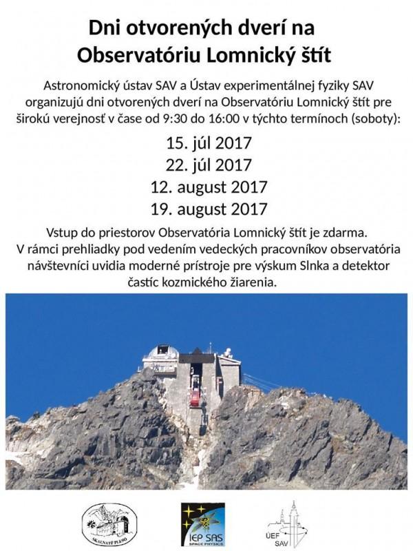 Obrázok: Dni otvorených dverí na observatóriu Lomnický štít - 22.07.