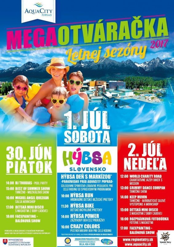 Obrázok: Megaotváračka letnej sezóny v Aquacity Poprad