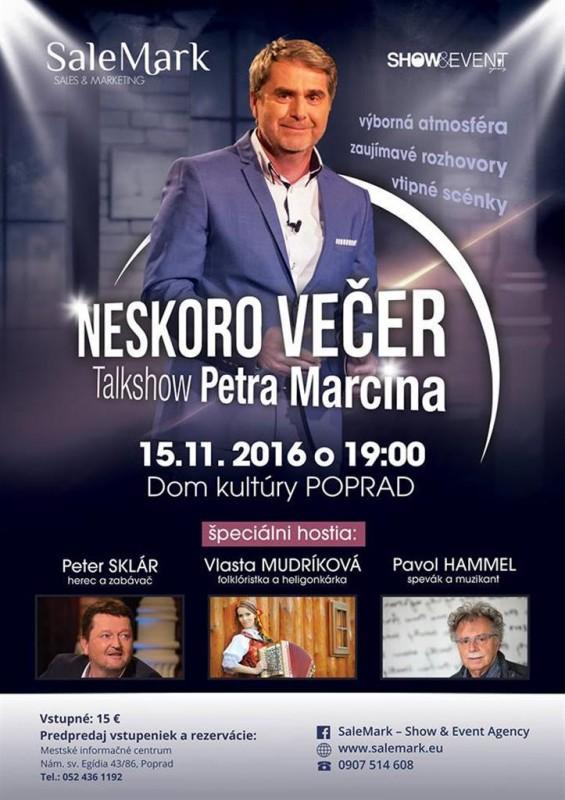Obrázok: TALKSHOW Petra Marcina - Neskoro večer