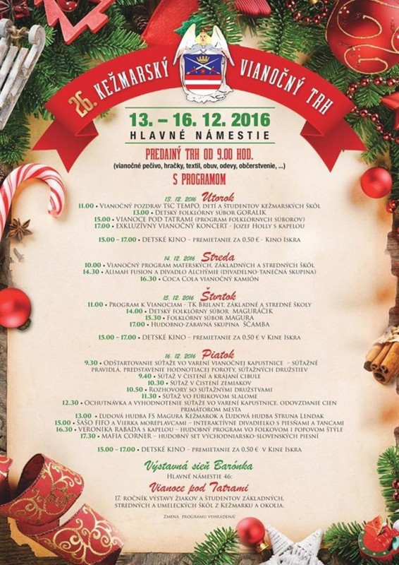 Obrázok: Kežmarský vianočný trh