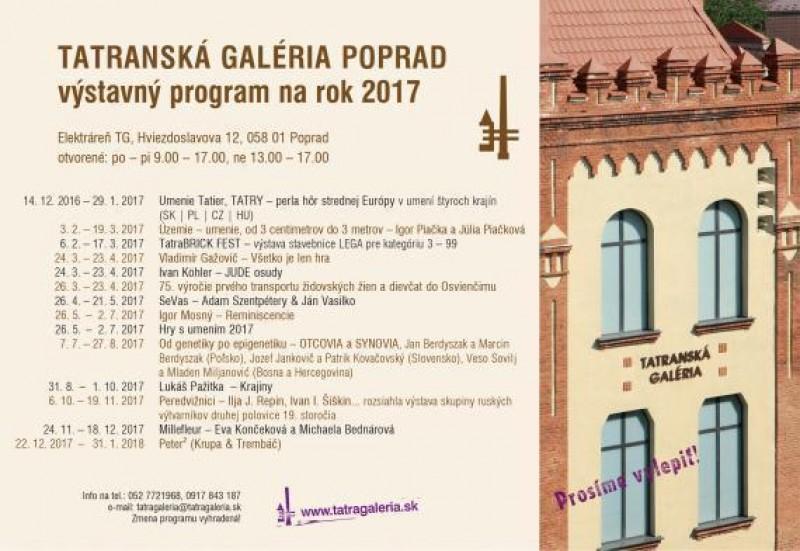 Obrázok: Program Tatranskej galérie na rok 2017