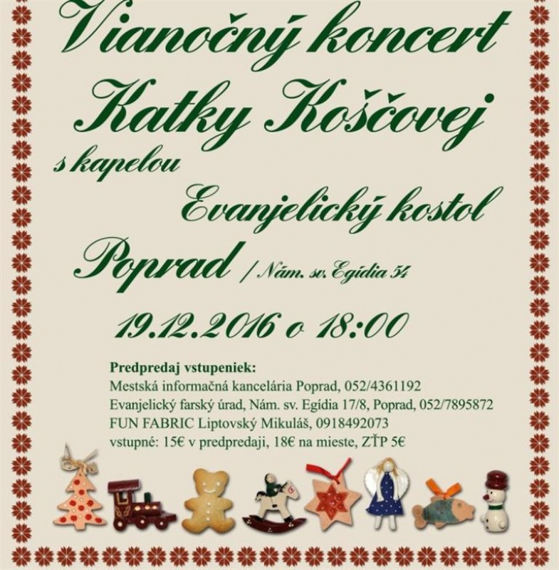 Obrázok: Vianočný koncert Katky Koščovej