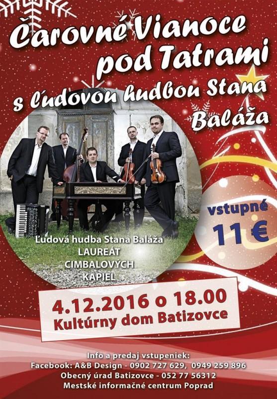 Obrázok: Čarovné Vianoce pod Tatrami s ľudovou hudbou Stana Baláža