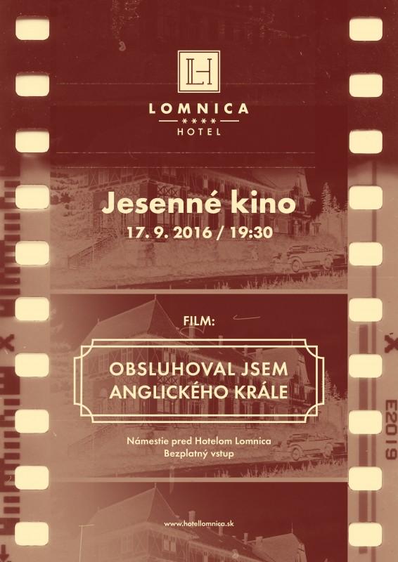Obrázok: Jesenné kino pred Hotelom Lomnica