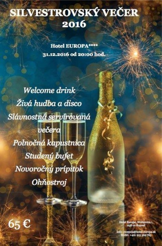 Obrázok: Silvester v hoteli Europa