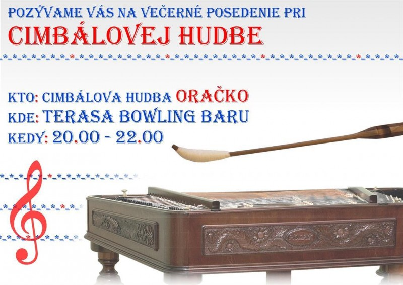 Obrázok: Cimbalová hudba Oračko - štvrtok 01.09.
