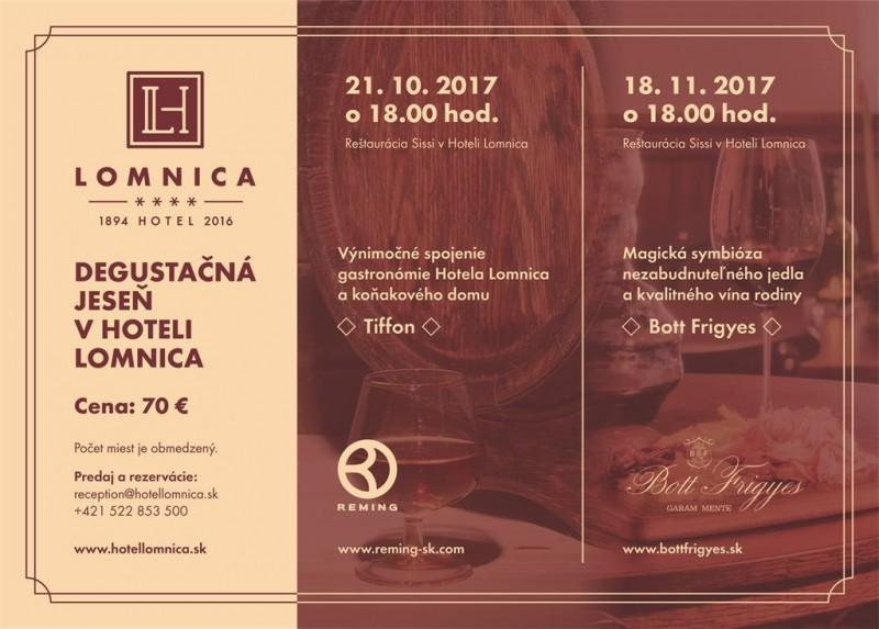 Obrázok: Degustačná jeseň v hoteli Lomnica - 21.10.2017