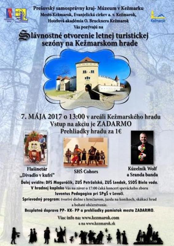 Obrázok: Slávnostné otvorenie letnej turistickej sezóny na Kežmarskom hrade