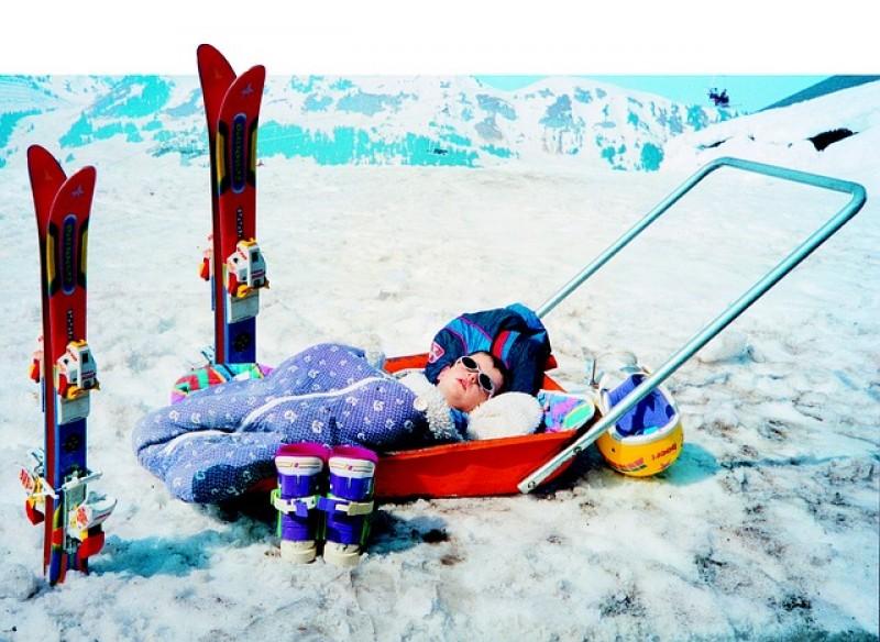 Obrázok: Tatranské deti na lyžiach